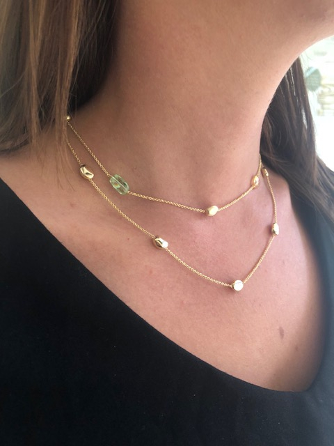 clark collection gold necklaces