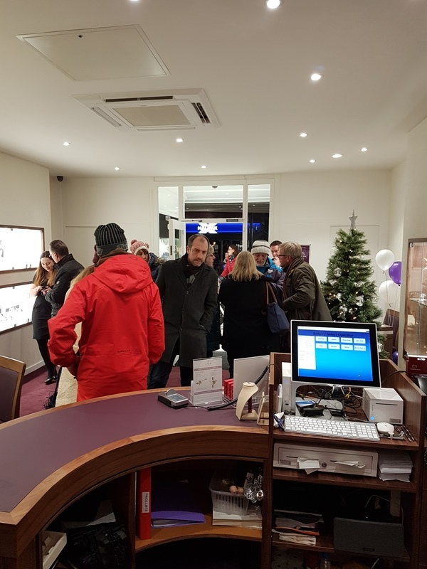 W E Clark and Son Uckfield showroom filled with customers