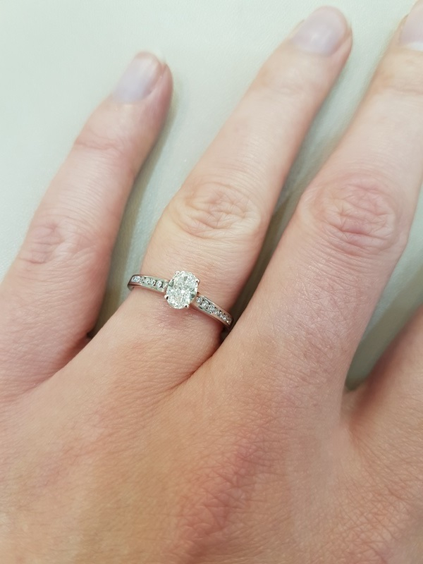 clark collection oval cut diamond ring