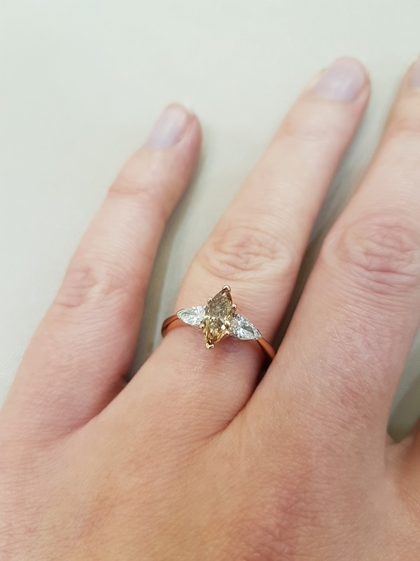 clark collection marquise diamond ring