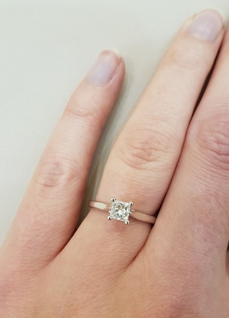 clark collection princess cut diamond ring