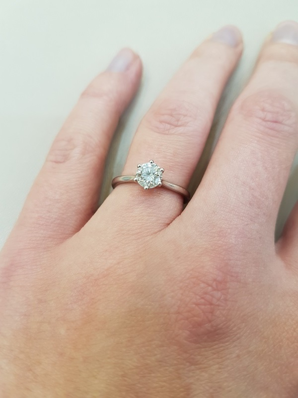 clark collection round modern brilliant cut ring
