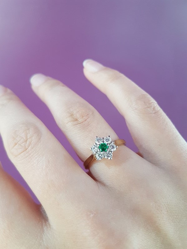 clark collection emerald and diamond ring