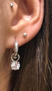silver ti sento earring