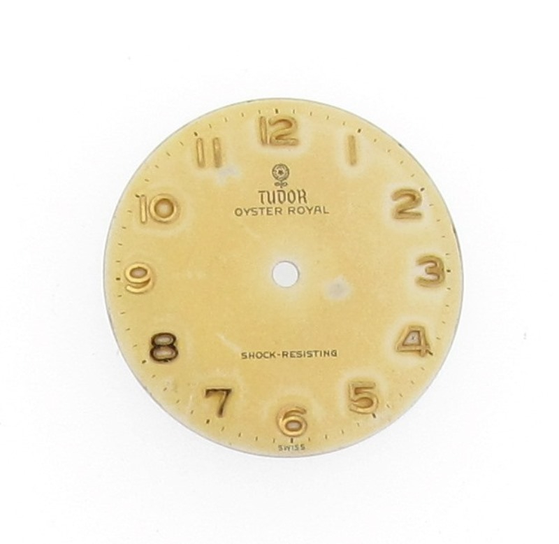 Tudor watch dial in need of restoration