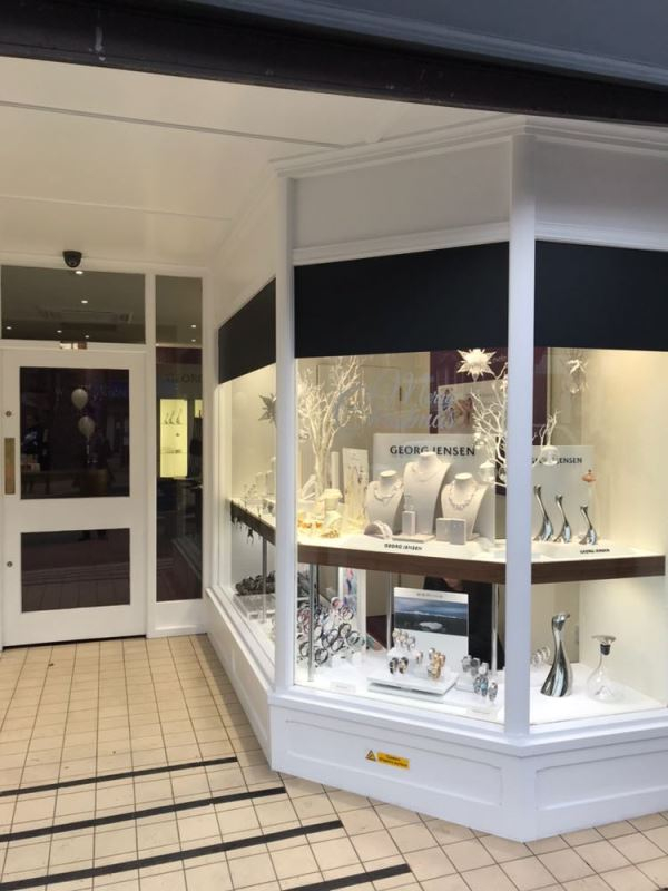 Georg Jensen window display in Uckfield