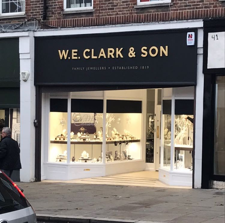 W E Clark and Son Uckfield showroom from outside