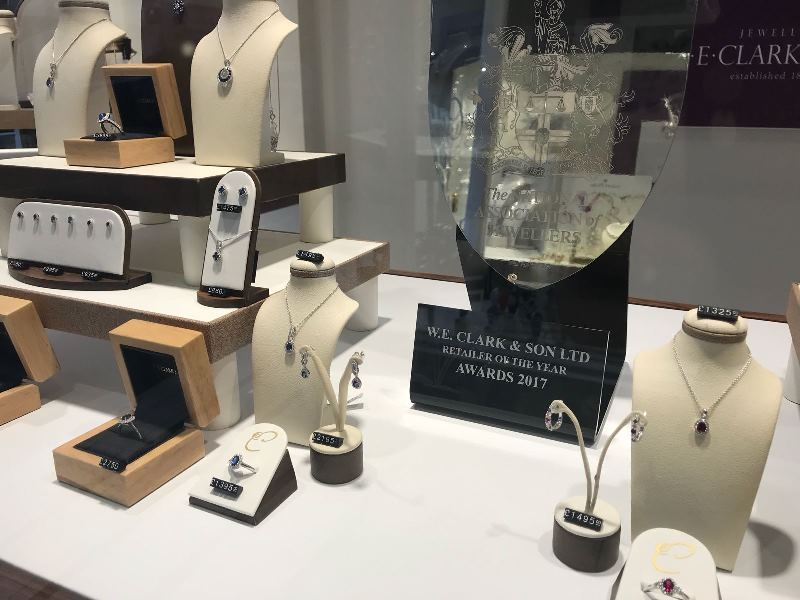 NAJ award in Uckfield window