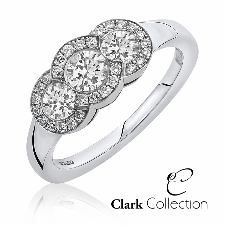 Clark collection white gold diamond ring