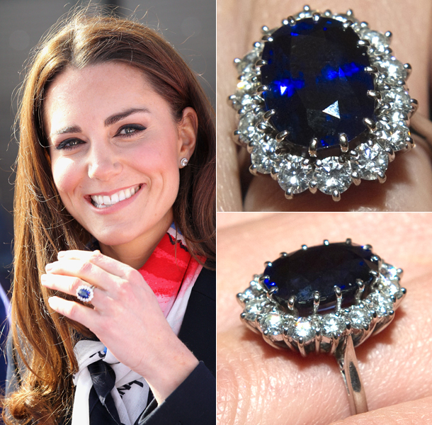 Kate Middleton sapphire and diamond engagement ring
