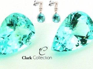 Exceptionally rare Paraiba Tourmaline & Diamond Earrings.