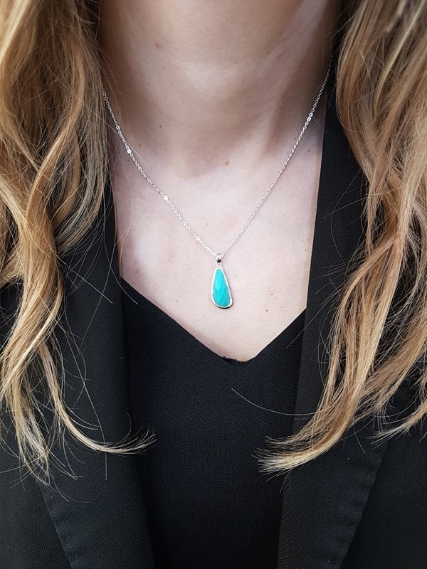 Turquoise necklace by Kit Heath at W.E. Clark and Son