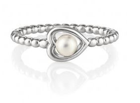 Jersey Pearl Heart Ring