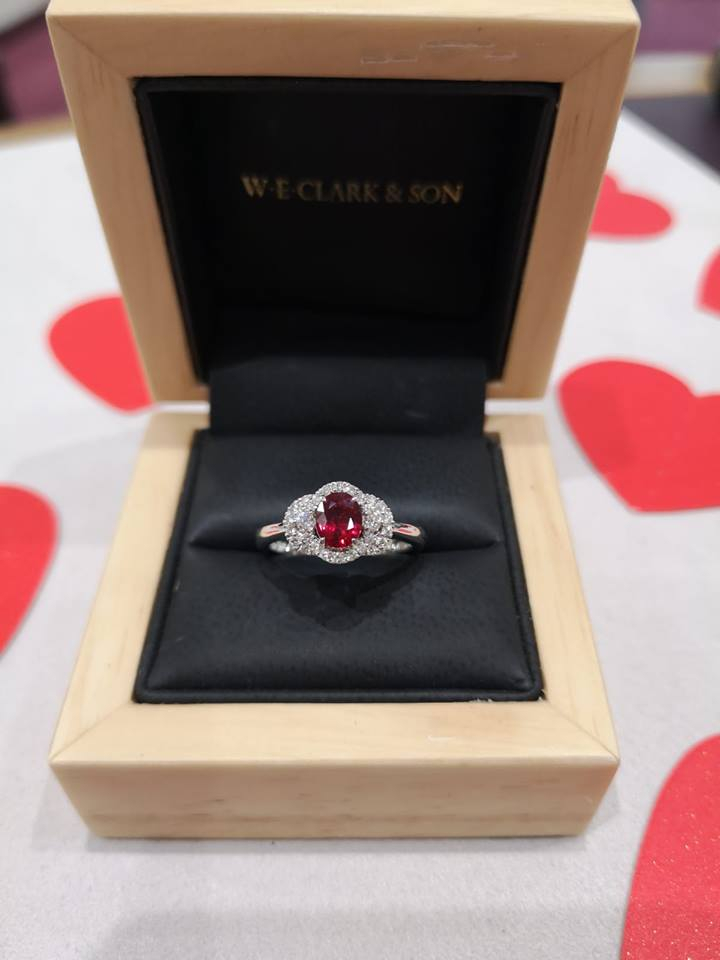 Clark collection ruby and diamond ring