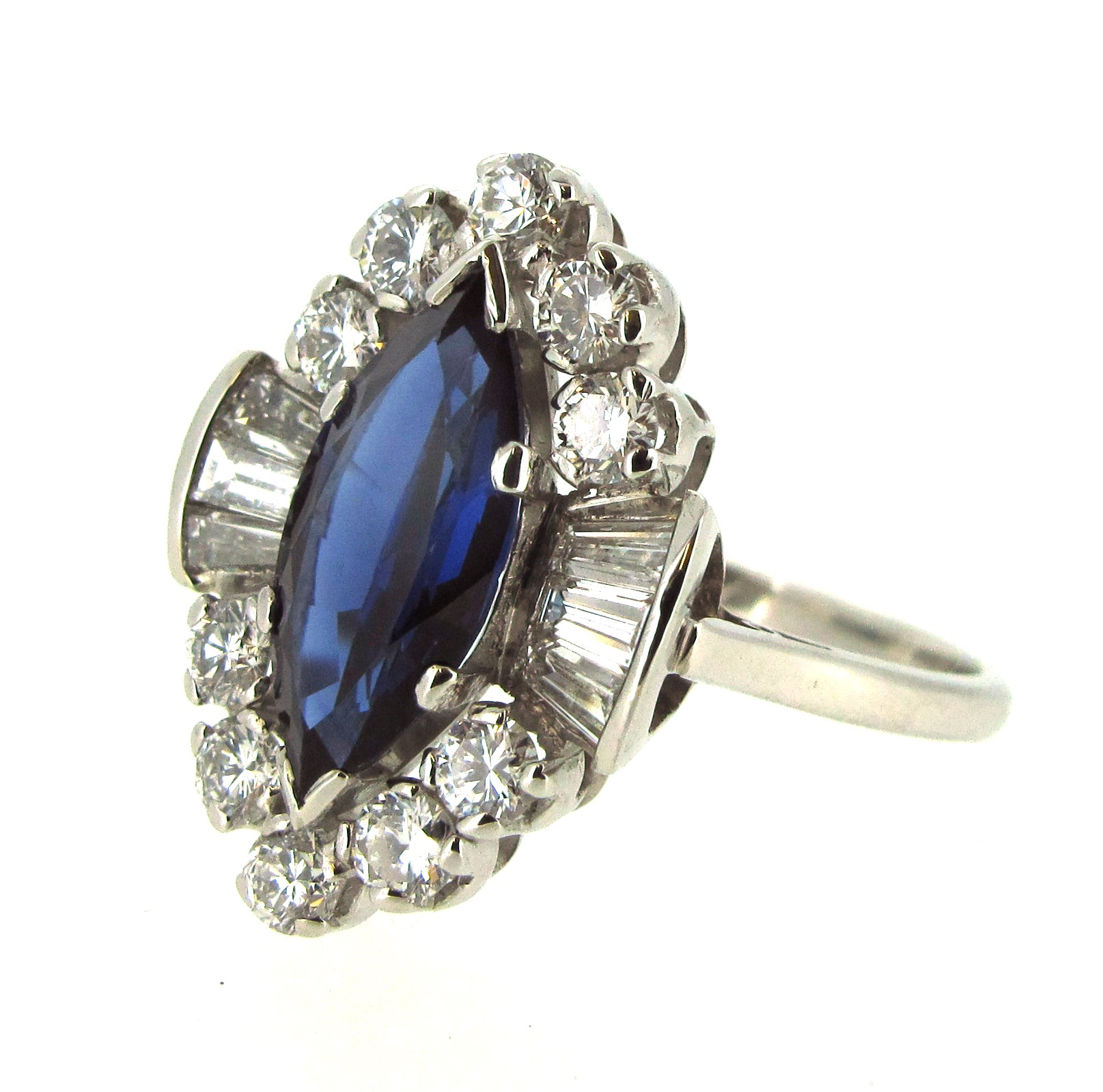 sapphire and diamond ring repaired