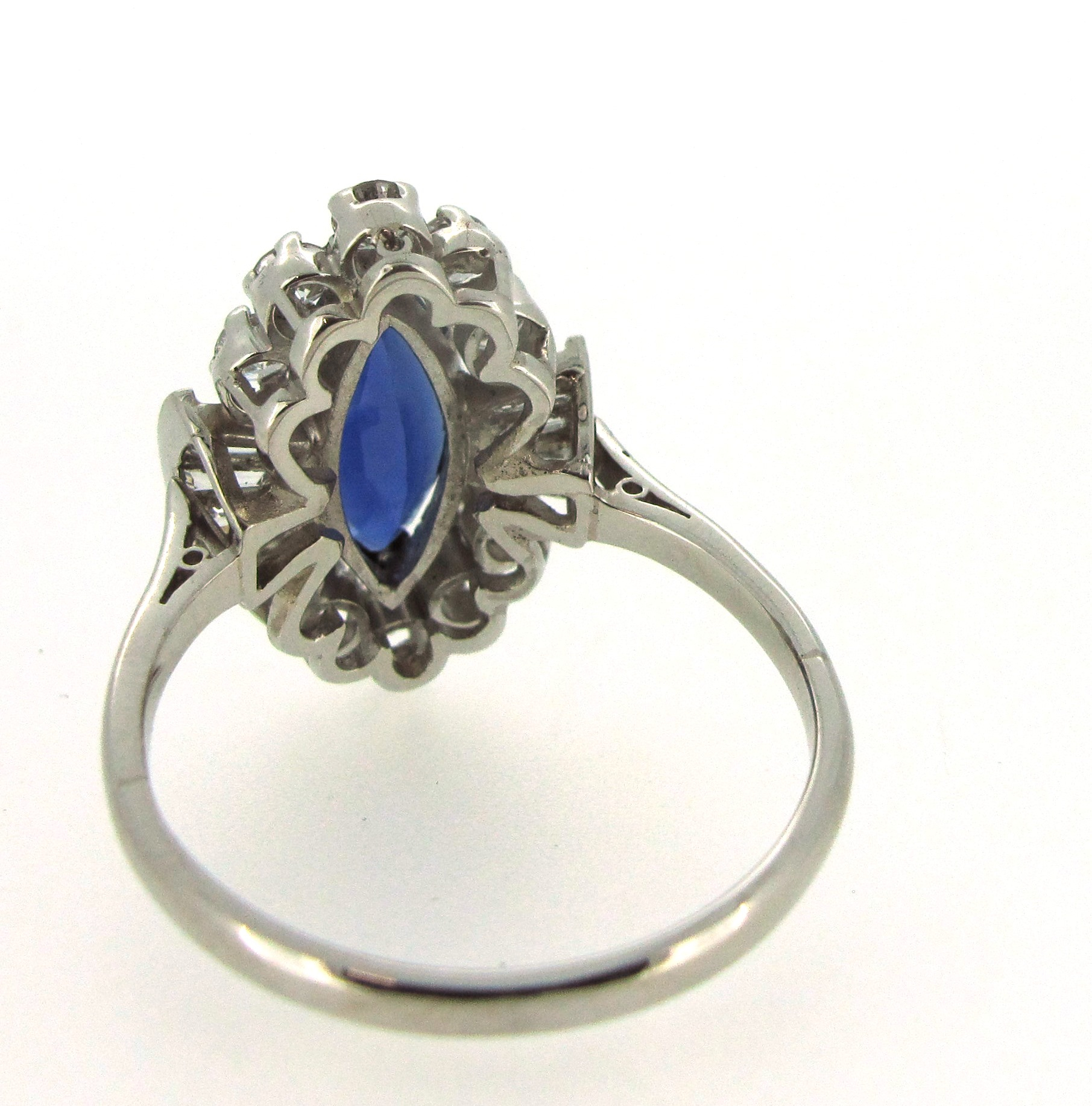 sapphire and diamond ring finished