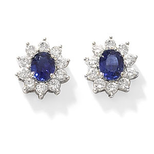 sapphire and diamond clark collection earrings