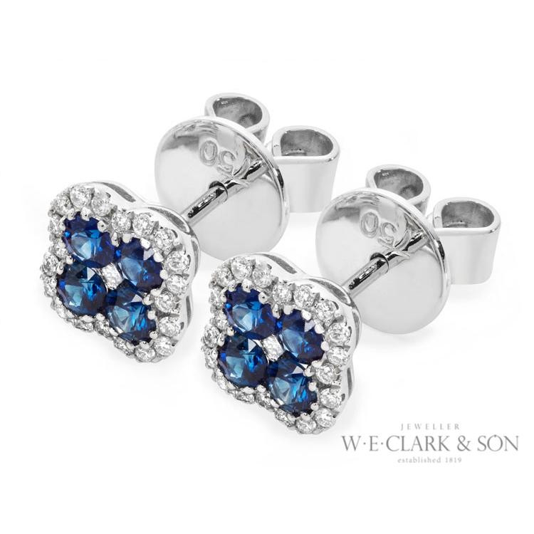 sapphire and diamond earrings from the clark collection