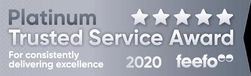 Feefo 2020 Platinum Award