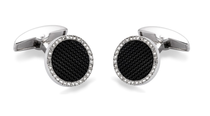 deakin and francis black onyx and diamond cufflinks
