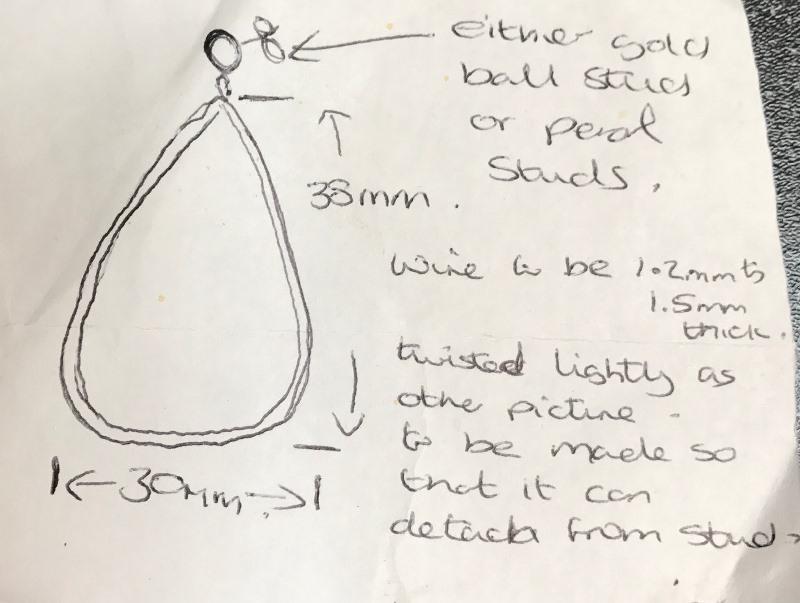 Earring design diagram