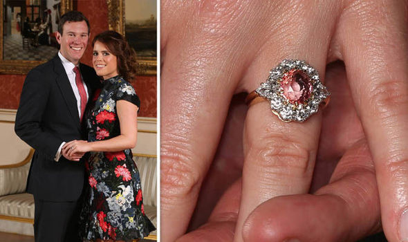 Princess Eugenie padparadscha engagement ring