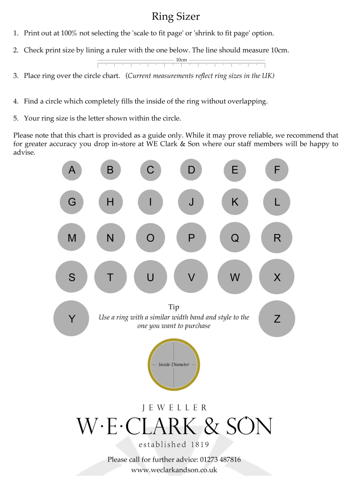 Ring size chart letters uk ring size diamond collection uk ring size chart to scale international ring size conversion nvjuhfo Images